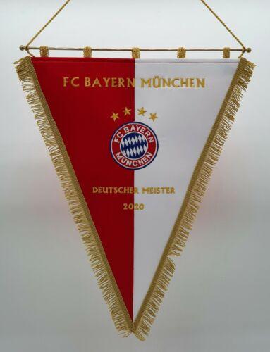 FC Bayern München Deutscher Meister 2020 Bestickten Wimpel Embroidered Pennant