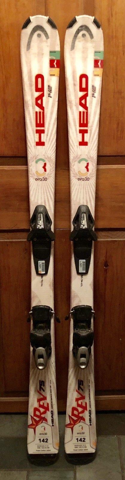 142 cm Head Rev 75 skis bindings  + womens 7.5 boots + optional helmet Leki poles  hot limited edition