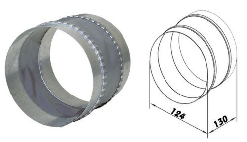 Vibrationsdämpfter Schwingungsdämpfer Wickelfalzrohr dalap FCG Ø125mm 80004