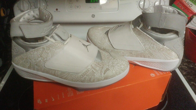 Nike Air Jordan 20 XX  Laser  Metallic Silver 743991-100 Size 14 1 banned xi xii