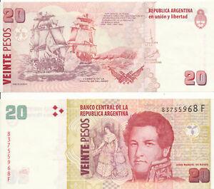 Argentina-Argentina-20-Pesos-2003-UNC-Pick-355-Series-F
