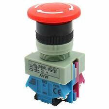 Baomain Emergency Stop Switch Push Button Switch Ac 600v 10a Red Mushroom 22m