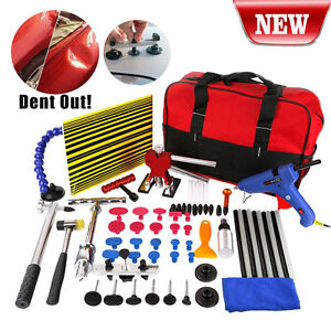 Set-65x-Paintless-Hail-Repair-Dent-Puller-Lifter-PDR-Tools-Auto-Body-Removal-Kit