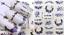 Adesivi-Unghie-Decalcomanie-Nail-Art-WATER-Decals-Stickers-Lavande-Fiori-Farfall miniatuur 33