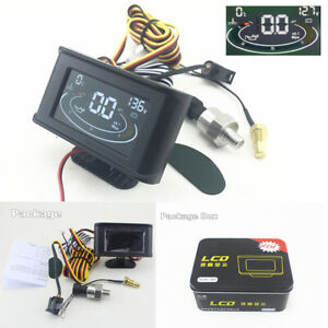 Universal-3in1-12-24V-Car-Oil-Pressure-Gauge-Voltmeter-Water-Temp-Meter-W-Sensor