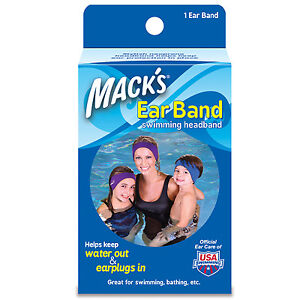 Mack-039-s-Ear-Band-Swim-Cap-Bathing-Pool-Swimming-Kids-Adults-Reversible-Ocean-452