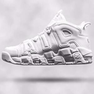 best sneakers 3c8f9 eaaac Image is loading Nike-Air-More-Uptempo-96-039-Triple-White-