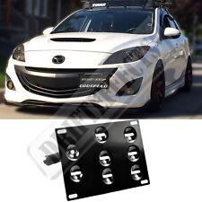 Rev9 For Mazda Mazdaspeed3 10-13 Front Tow Hook License Plate Mount Bracket Kit