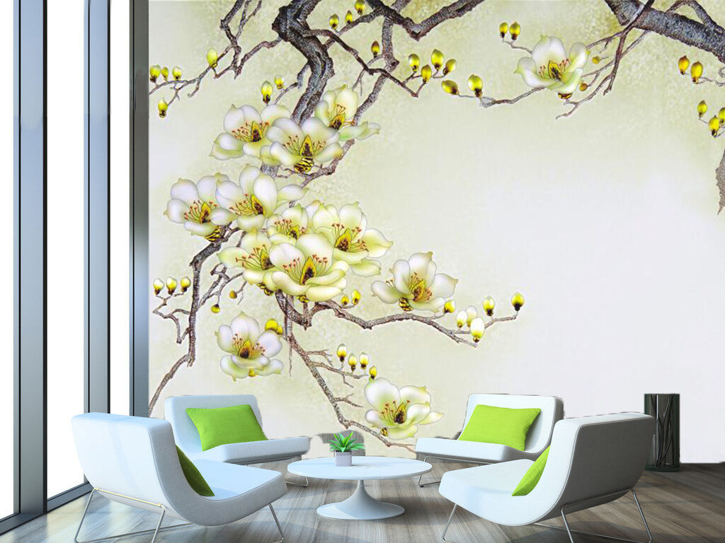 3D 3D 3D Fleurs D'arbres. Photo Papier Peint en Autocollant Murale Plafond Chambre Art f2b38f