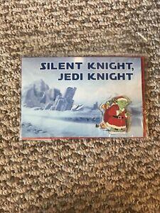Disney Star Wars Holiday Silent Knight Jedi Knight Yoda Pin /& Card Sealed New