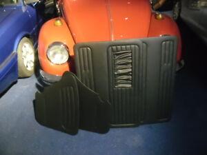 NEU-4X-Tuerverkleidung-VW-Kaefer-Limousine-schwarz-vorne-hinten-ab-66-TMI-USA