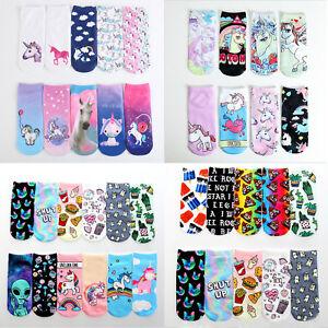 2b4f6faa1 1 Pair Unicorn Flamingo Animal Printed Ankle Socks Women Low Cut ...