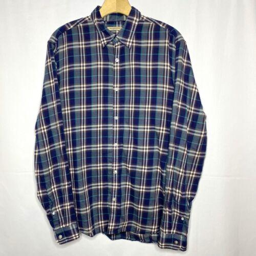Burberry Brit Flannel Shirt XL Blue Purple White P