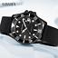Orologio-da-Polso-Automatico-da-Uomo-impermeabile-in-Acciaio-Inox-Nero miniatura 1