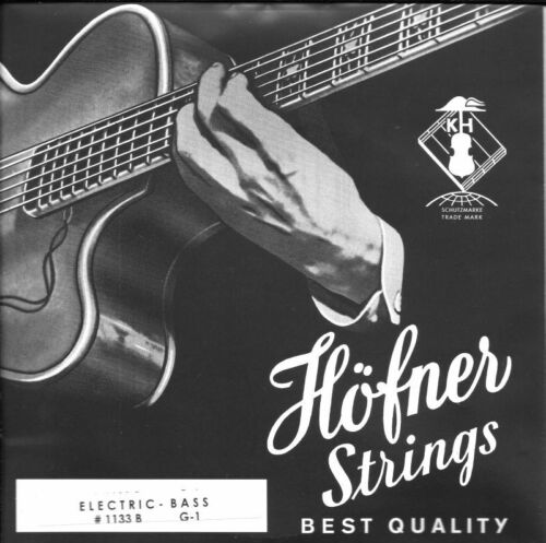 GENUINE HOFNER BASS GUITAR STRINGS FLATWOUND SHORT SCALE MADE IN GERMANY 1133B
