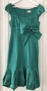Party Green Emerald Work Evening Size Uk Cocktail Millen 12 Karen Satin Dress BFR07