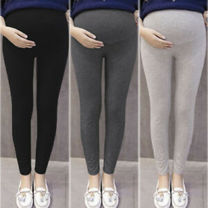 Women-Thick-Comfortable-Maternity-Cotton-Leggings-Full-Ankle-Length-PREGNANCY