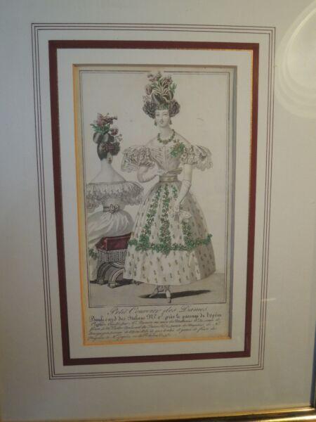 Orig. Kolorierter Stahlstich: Modes De Paris. Petit Courrier Des Dames. Von 1855
