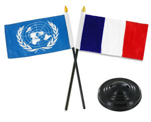 "4/""x6/"" France Stick Flag Table Staff Desk Table"