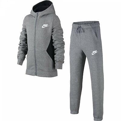 Nike Air Hooded Kids Tracksuit BlackGrey   A&A Sports