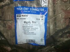 """NEW~QTY (5) Raco Hubbell EMT Mighty Bite Push-to-Connectors 1/2"""" Rac250MB"""