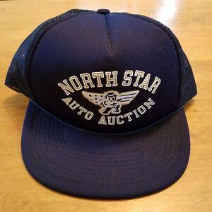40182c9223b Vintage -1980s North Star Auto Auction foam mesh trucker snapback ...