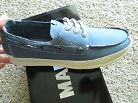 Steve Madden Rotor Boat Shoes Mens 10.5 Loafers Blue Free Ship