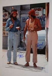 Cheech-Marin-amp-Tommy-Chong-Signed-Autographed-11x14-Photo-UP-IN-SMOKE-BAS-COA