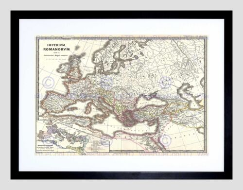 1865 SPRUNER MAP THE ROMAN EMPIRE UNDER CONSTANTINE VINTAGE ART PRINT B12X2230