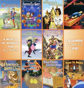 10-Movie-Fairytale-Collection-new-DVD-set-children-Camelot-Hercules-Hunchback