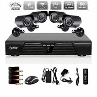 8ch D1 Dvr H.264 Realtime Cctv Surveillance Security Video 3g 4600tvl Cameras