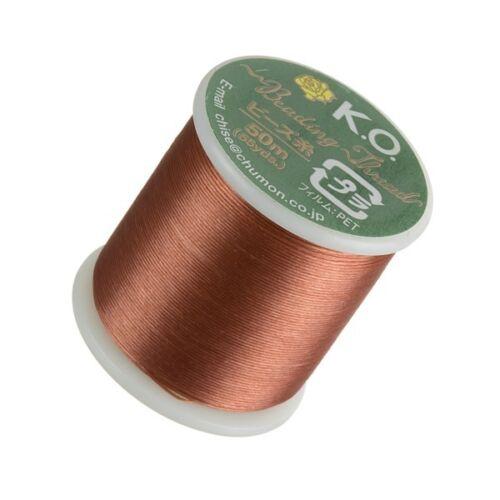 "D50//10 KO Apricot Japanese Nylon Beading Thread 0.3mm 0.012/"" 50m"