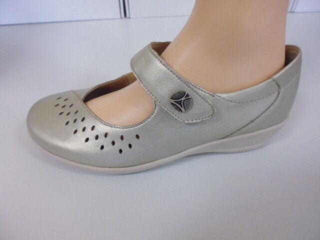 Scarpe di Velcro Slipper Slipper Pelle di Scarpe Goldkrone tg. 4,5 (37,5) Larghezza K 2814db