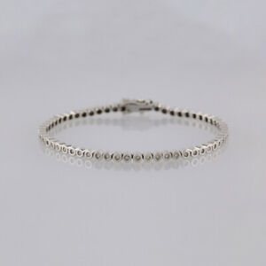 1-0-Carat-Diamond-Line-Bracelet-18ct-White-gold