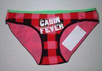 Flirtitude Bikini Panties Size Xs Extra Small Juniors Teens Pink Black Plaid