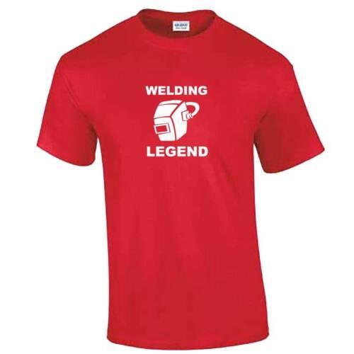 Welder TShirt Mens Work Wear Tools Clothing Funny Gift Idea WELDING LEGEND