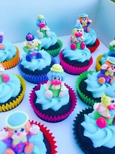 24-x-Edible-3D-Clown-Cupcake-Toppers-Decorations-Circus-Party-Cakes