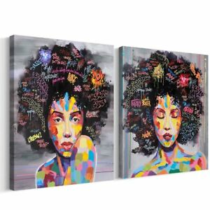 Details about FREE CLOUD Crescent Art Abstract Pop Black Art African  American Wall Art Afro