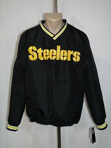 100% authentic a2113 8c275 Details about PITTSBURGH STEELERS MEN'S MEDIUM V-NECK PULLOVER JACKET  SWEATSHIRT NFL NFL NWT!