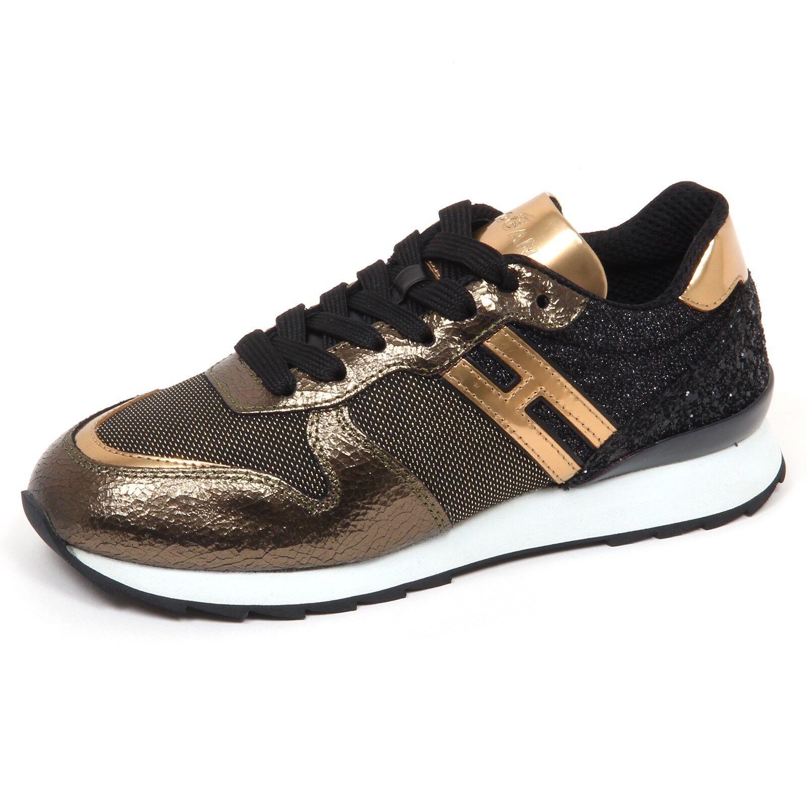 Casual salvaje Barato y cómodo E4830 sneaker donna nero/oro HOGAN R261 scarpe glitter shoe woman