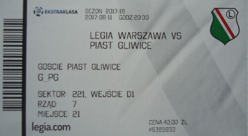 mint TICKET Polen 2017//18 Legia Warszawa Piast Gliwice