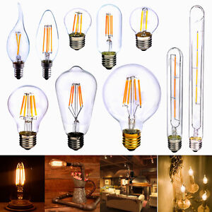 e14 e27 2w 3w 4w 6w 8w edison vintage cob led lampe filament gl hbirne retro neu ebay. Black Bedroom Furniture Sets. Home Design Ideas