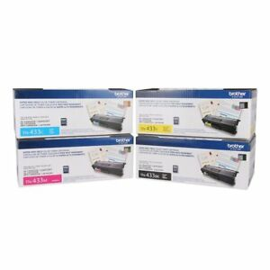 1 SET TN433  BK//C//M//Y 4 Color Generic Toner For Brother HLL8260CDW  HLL8360CDW