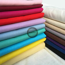 Plain Solid 100% Cotton Fabric Quilting Sewing Craft Patchwork Cloth BY The Yard