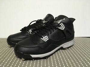 8558331b1a78df Jordan IV 4 Retro Nike Metal Baseball Cleat Size 13 Oreo 807710-010 ...