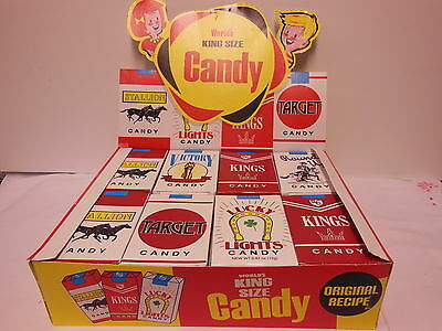 Candy Cigarettes by World 1or2 Full Box of 24 packs Great Retro Look and Taste!