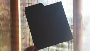 20-x-7-034-VINYL-RECORD-DIVIDERS-BLACK-tabs-for-shops-collectors-amp-fairs