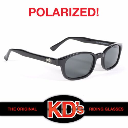 KD/'s Black Frame Polarized Grey Lens Biker Sunglasses ASO Sons of Anarchy