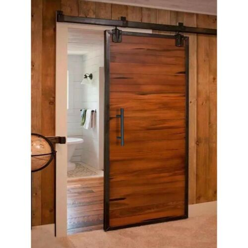 "12/"" Sliding Barn Door Pull Flush Handle Gate Hardware Set Cast Iron Matte Black"