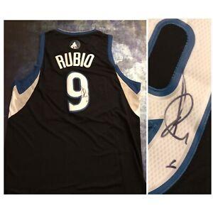 GFA Minnesota Timberwolves RICKY RUBIO Signed Wolves Jersey COA